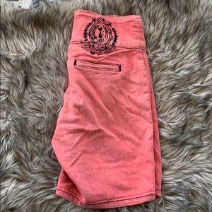 Coral Bermuda Shorts